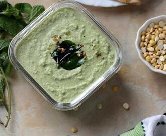 Mint Coconut Chutney | Idli, Dosa Side Dish