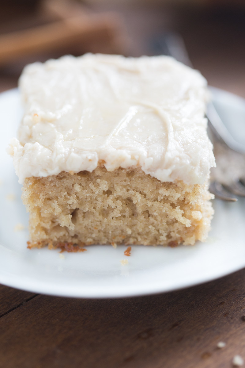 Apple Spice Cake with Brown Sugar Cream Cheese Frosting