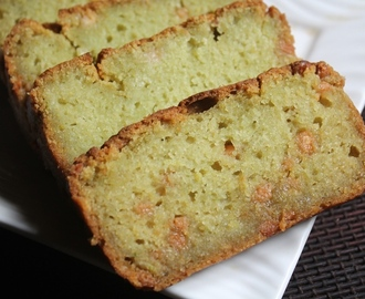 Eggless Avocado Loaf Cake Recipe - Avocado & White Chocolate Cake Recipe