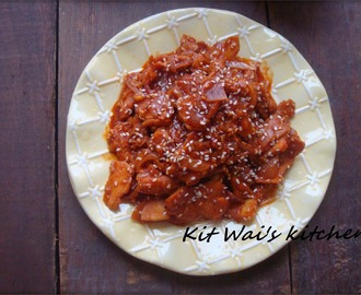 韩式烧烤肉 ~ Korean Spicy Pork Bulgogi / Dwaeji bulgogi ( 돼지불고기)