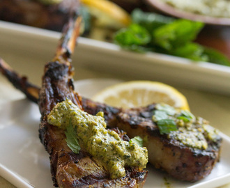 Chop It Like It's Hot: Indian-Spiced Lamb Lollipops with Mint Pesto