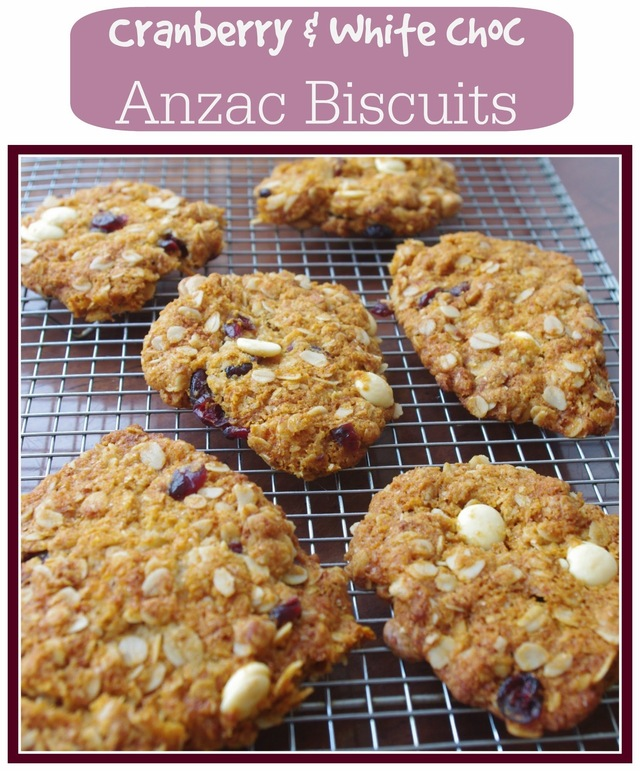 Recipe: Cranberry and White Chocolate Anzac Biscuits