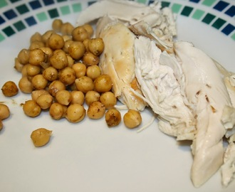 Roast Chicken with Zesty Chickpea Stuffing