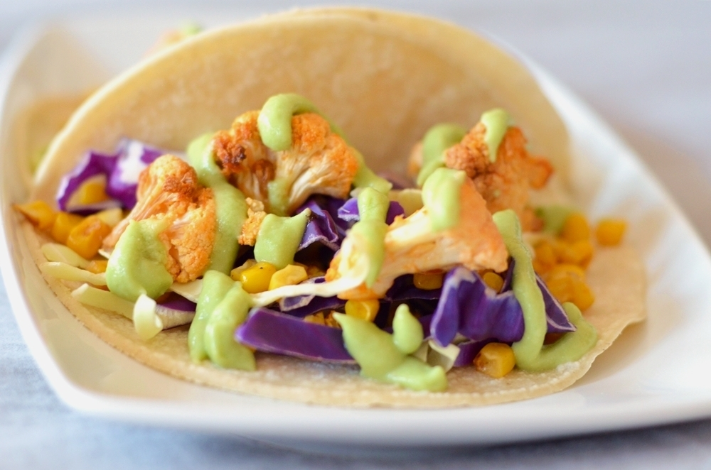 Recipe ReDux: Buffalo Cauliflower Tacos with Avocado Crema Sauce