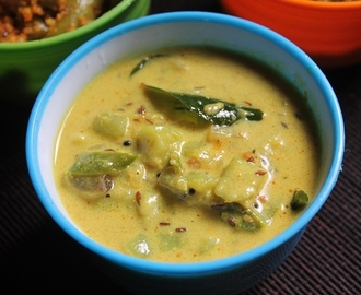 Ridge Gourd Milk Curry Recipe - Peerkangai Palu Curry Recipe - Beerakaya Paal Curry Recipe