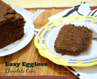 Easy Eggless Chocolate Tea Cake