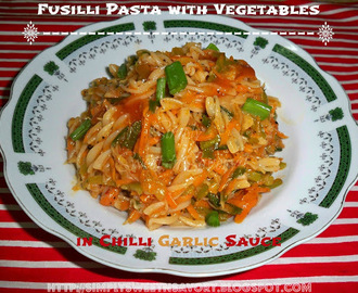 Fusilli Pasta with Vegetables in Chilli Garlic Sauce & Awards