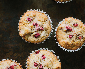 rhubarb, apple + ginger muffin recipe {gluten + dairy-free}
