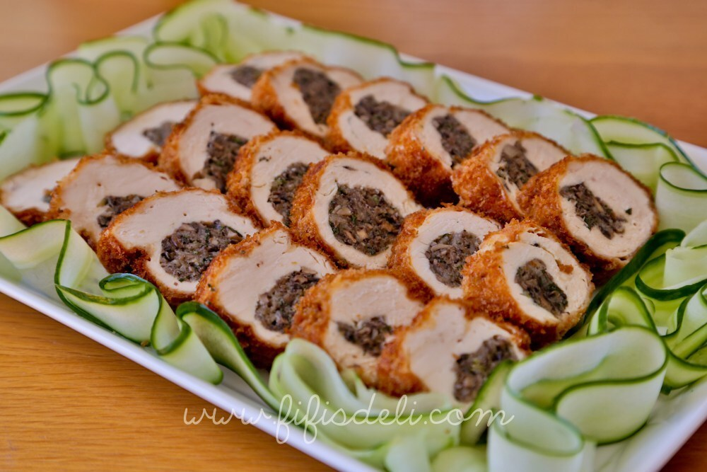Chicken Roulade with Mushroom Stuffing