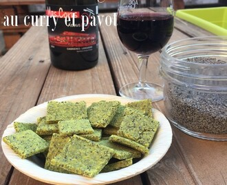 Crackers sans gluten curry et pavot