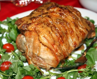 Scandinavian Christmas ~  Flæskesteg (Danish Pork Roast)