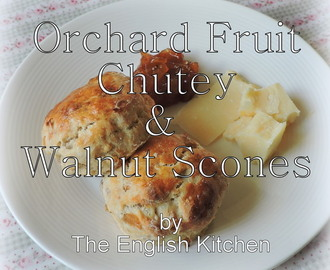 Orchard Fruit Chutney and Walnut Scones