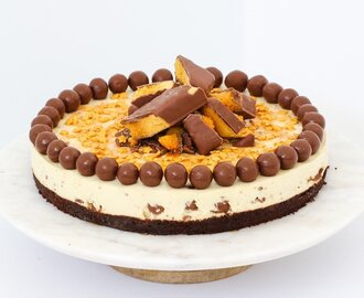 Crunchie & Malteser Cheesecake | No-Bake
