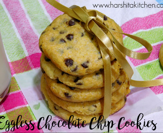 Eggless Chocolate Chip Cookies, Soft & Chewy Chocolate Chip Cookies