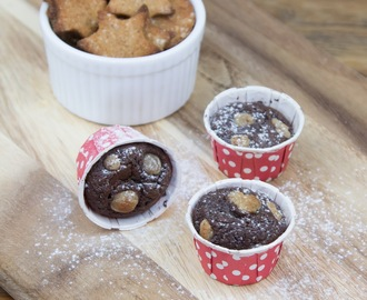 Chocolate Gingerbread Brownie Muffins, Sugar-free and Gluten-free