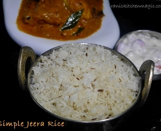 Simple Jeera/Zeera Rice (Rice with Cumin Seeds)