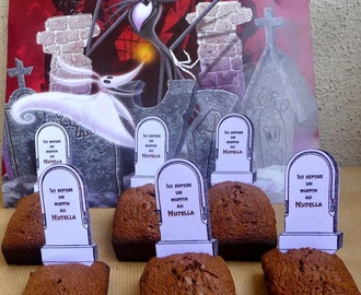Muffins au Nutella d'Halloween « tombstone »