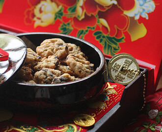 巧克力核桃曲奇 【Chocolate Walnut Cookies】