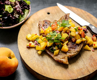 Grilled Pork with Peach Salsa