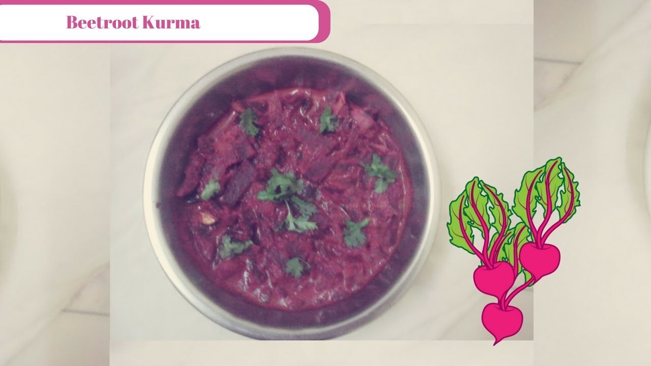 How To Prepare Beetroot Kuruma || Beetroot Curry Recipe || Easy Side Dish For Chapathi