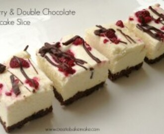 Double Chocolate & Raspberry Cheesecake Slice