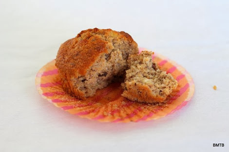Banana, Bran and Walnut Muffins