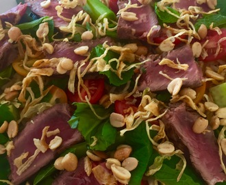 Beef salad with a stunning secret dressing