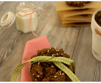 Chocolate Cookies with Chocolate Chips / Piskoti s cokoladnimi koscki