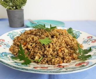 Lentejas con arroz/ Lentils with rice