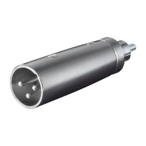 Adapter XLR-hane till RCA-hane. XLR-adapter
