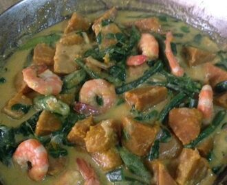 Ginataang Kalabasa At Sitaw (Squash & String Beans in Coconut Milk)