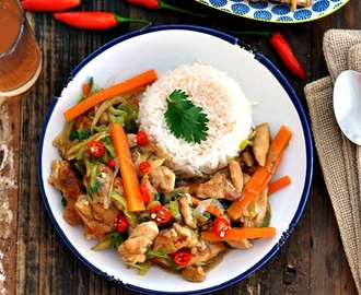 [Recipe] Chinese Ginger & Leek Chicken Stir Fry