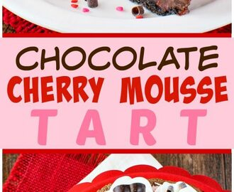 Chocolate Cherry Mousse Tart