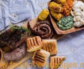 BRAAI LEG OF LAMB WITH SIDE DISHES