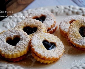 Jam Heart Cookies (Glass Biscuit)