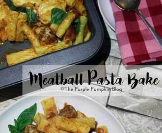Quick + Easy Meatball Pasta Bake
