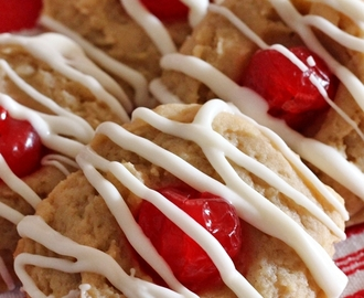 Cherry Almond Cream Cheese Cookies