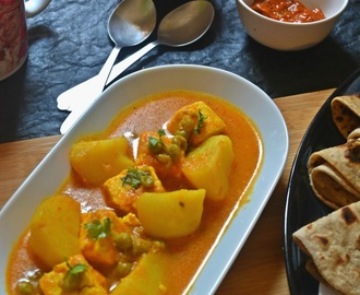 Aloo Matar Paneer Recipe, How to make Punjabi style Aloo Matar Paneer Recipe