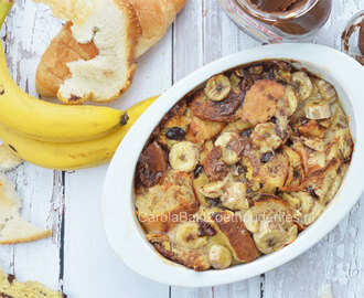 Nutella broodpudding met banaan