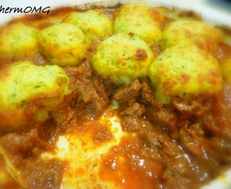 Beef Bourguignon with Basil and Parmesan Dumplings