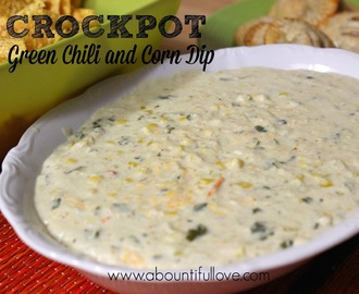 Crockpot Green Chili and Corn Dip