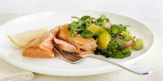 Nadia's Smoked Salmon with Avocado, Orange and Radish