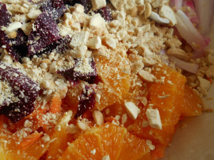 SALADE ROSE DE QUINOA À L'ORANGE