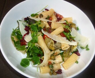 Mediterranean Whole Wheat Pasta Salad with a Preserved Lemon, Caper and Thyme Dressing Recipe