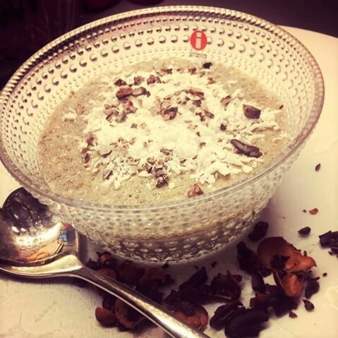 Buddha bowl og Chai latte chiapudding