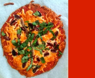 Sweet Potato Pizza Crust!  Gluten Free/Vegetarian/Flourless