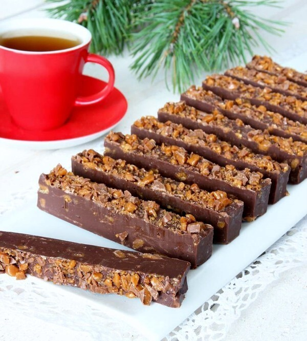 Daimfudge bars.