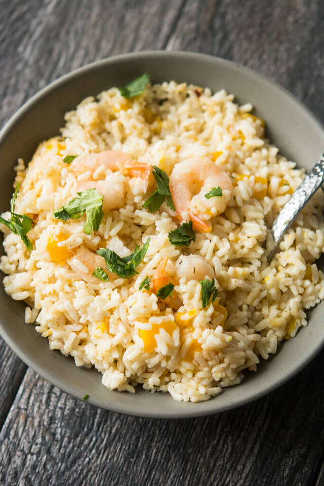 Lunch Crock Coconut Rice and Mango Shrimp