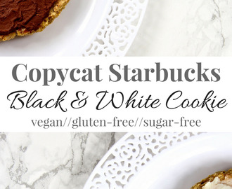 Copycat Starbucks Black & White Cookie [vegan + gluten-free]