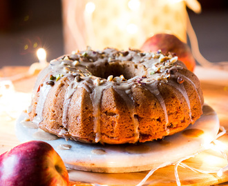 Garam Masala Eggless Apple Bundt Cake